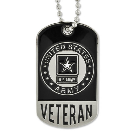 Army Veteran Dog Tag - Engravable Front