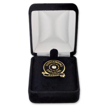 Velour Pin Box Black