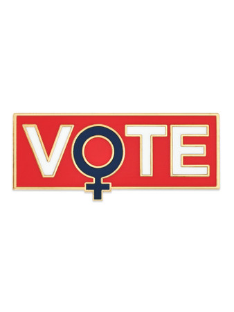 Vote Feminism Pin Front