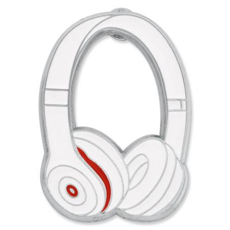 Headphones Pin - White front