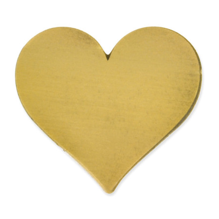 Antique Gold Heart Pin Magnetic Back front