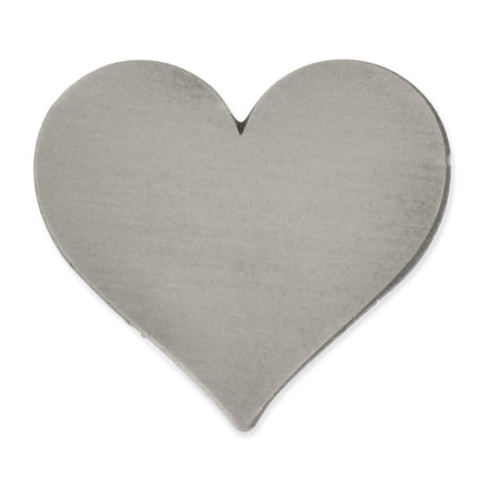Antique Silver Heart Pin Magnetic Back Front