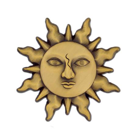 Gold Sun Lapel Pin