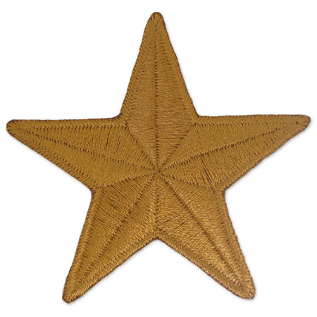 Patch - 1-1/2 inch Star Bronze - BOGO
