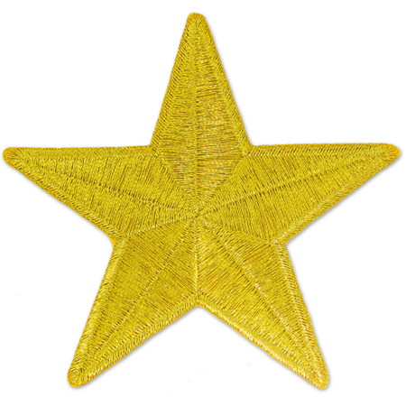 Patch - 1-1/2 inch Star Gold
