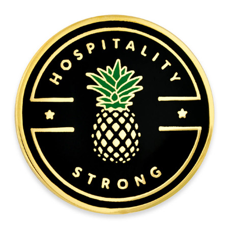 Hospitality Strong Lapel Pin front