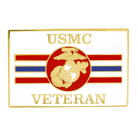 Officially Licensed U.S. Marine Corps Veteran Flag Pin