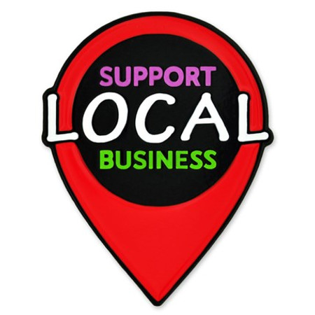 Support Local Business Lapel Pin front