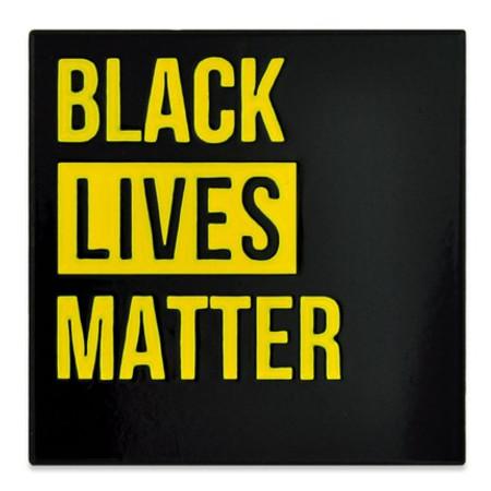 Black Lives Matter Lapel Pin front