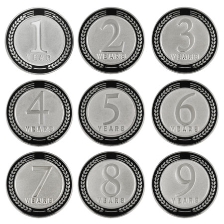 Years of Service Pin - 1-9 Years - Black