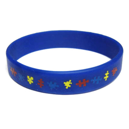Autism Awareness Rubber Bracelet (Youth)