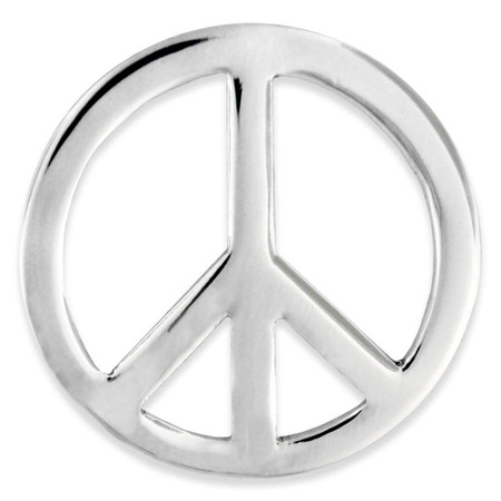 Peace Sign Lapel Pin front