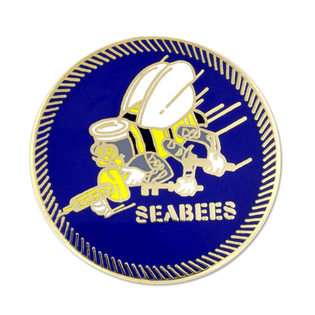Officially Licensed Seabee Pin Front