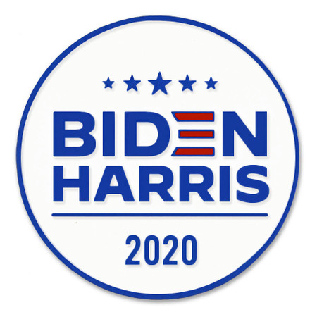 Biden and Harris Lapel Pin Front