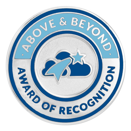 Above & Beyond Recognition Lapel Pin Front