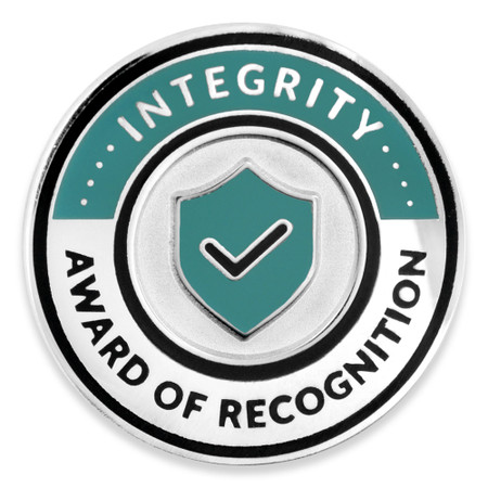 Integrity Recognition Lapel Pin Front