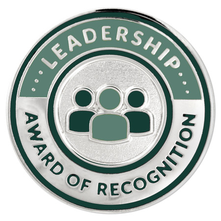 Leadership Recognition Lapel Pin Front