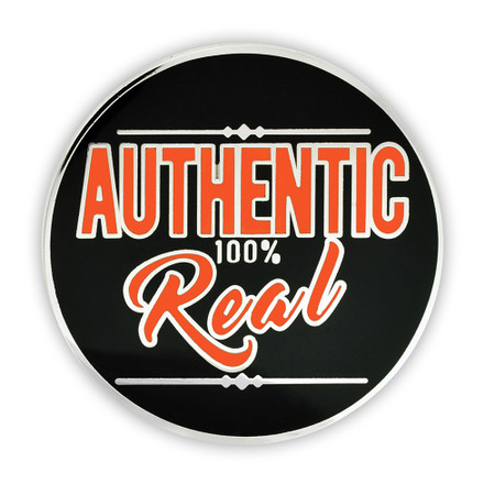 Authentic 100% Real Lapel Pin Front
