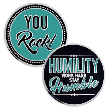 Humility Work Hard Coin