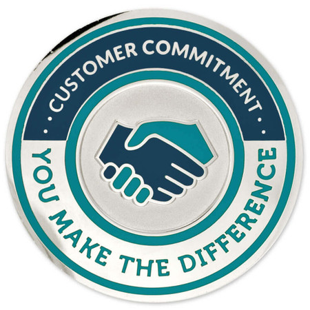 Engravable Customer Commitment Coin Back