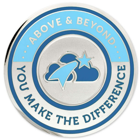 Engravable Above & Beyond Coin Back