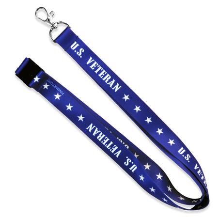 U. S. Veteran Lanyard Blue
