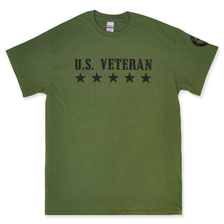 U.S. Veteran Military T-Shirt Green