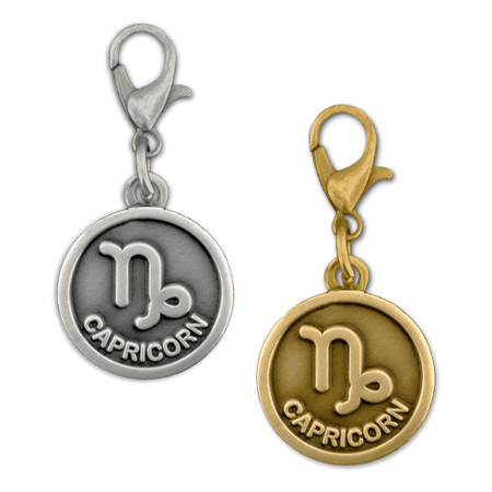 Capricorn Charm Gold Silver