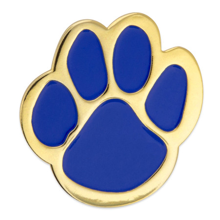 Paw Pin - Blue and Gold Front