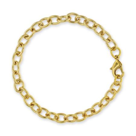 Chain Link Gold Charm Bracelet