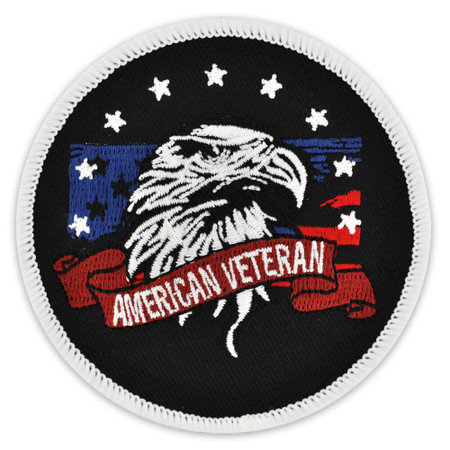 Round American Veteran Patch Front