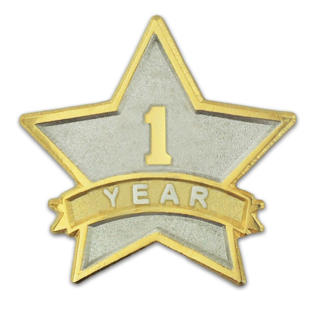 Years of Service Star Pin Front