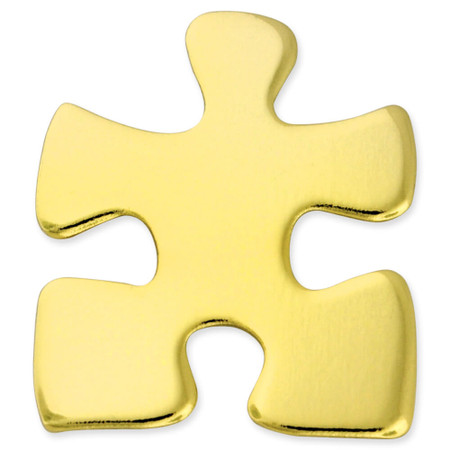 Gold Puzzle Pin Front