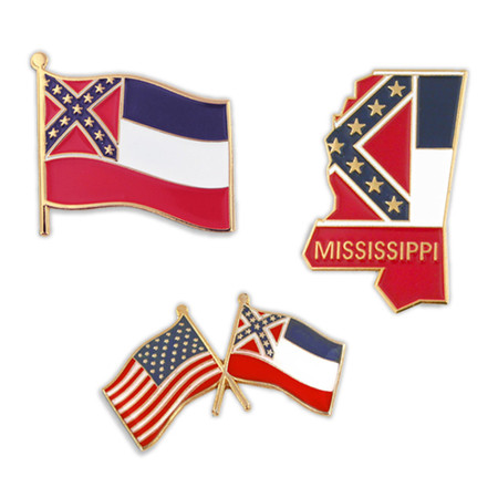 Historical Mississippi Pin Set Pins