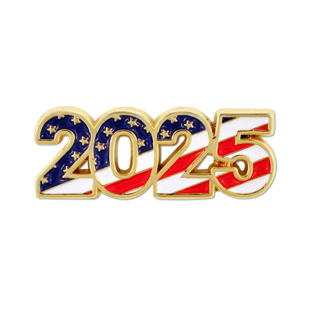 2025 Patriotic Year Pin Front