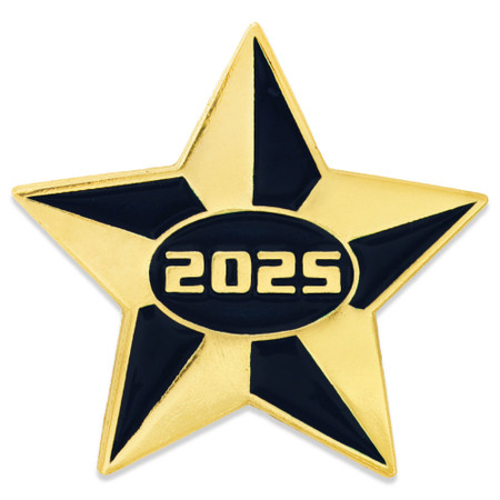 2025 Blue and Gold Star Pin Front