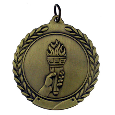 Olympic Torch Medal Front