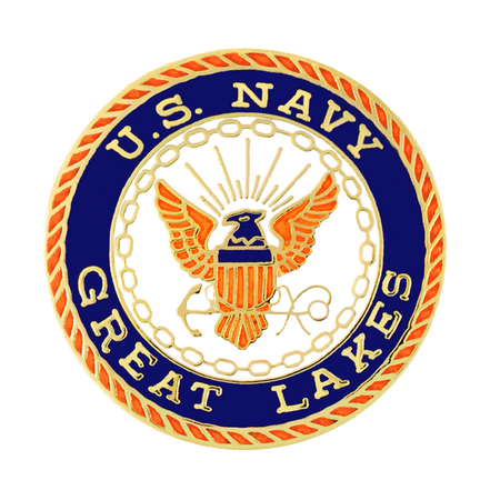 Officially Licensed U.S. Navy Great Lakes Pin Front