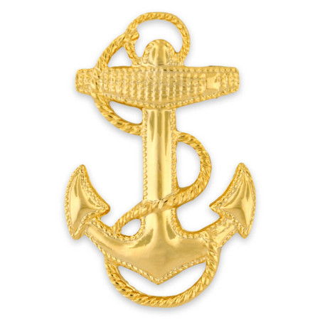 Officially Licensed U.S. Navy Anchor Pin Front