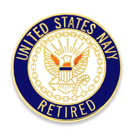 Officially Licensed U.S. Navy Retired Pin Front