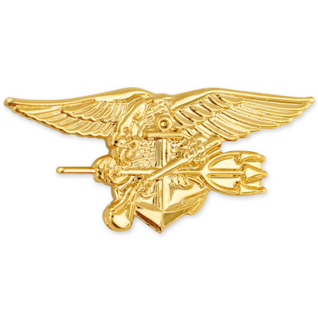 Officially Licensed U.S. Navy Seal Trident Pin Front
