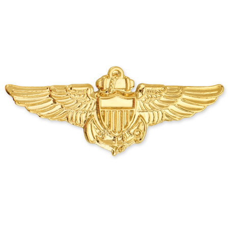Officially Licensed U.S. Navy Aviator Pin Front