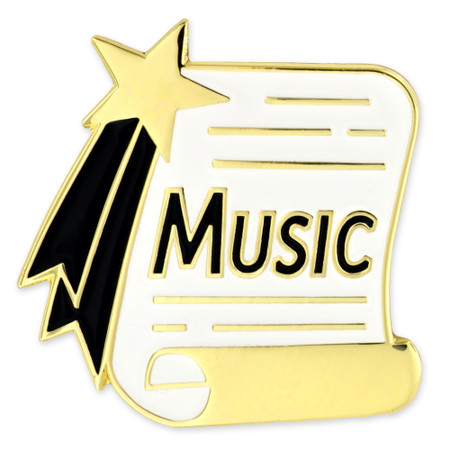 Music Scroll Pin Front