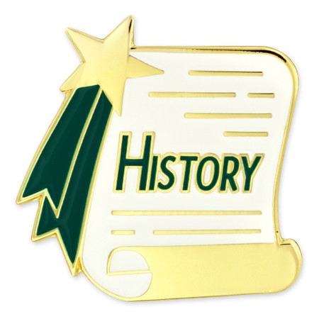 History Scroll Pin Front