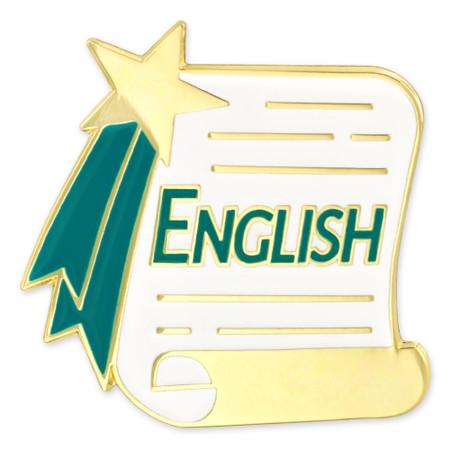English Scroll Pin Front