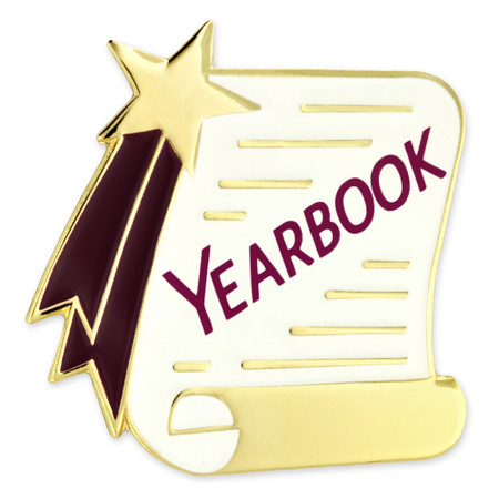 Yearbook Scroll Pin Front