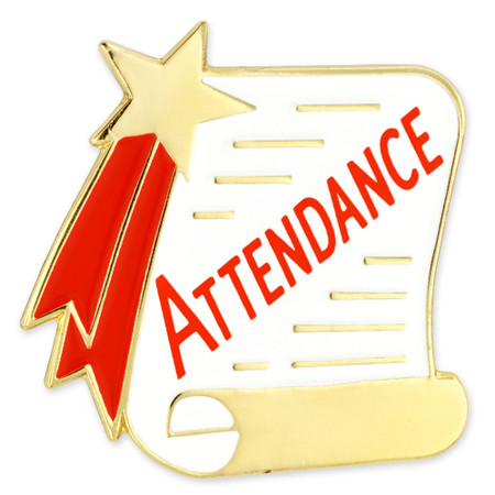 Attendance Scroll Pin Front