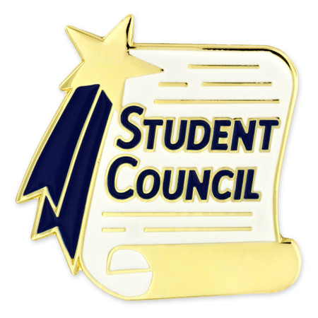 Student Council Scroll Pin Front