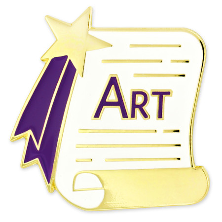 Art Scroll Pin Front