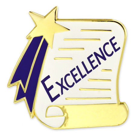 Excellence Scroll Pin Front